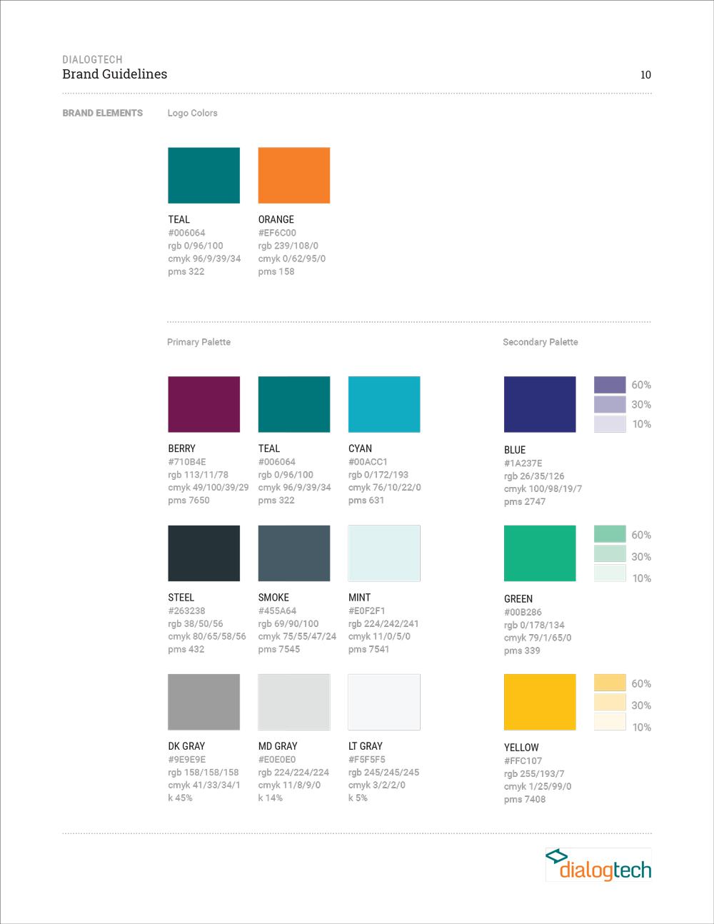 Style Guide - Final Colors